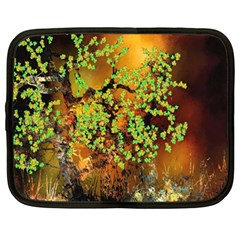 Backdrop Background Tree Abstract Netbook Case (xl)  by Nexatart