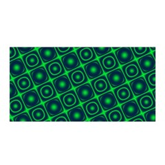 Plaid Green Light Satin Wrap