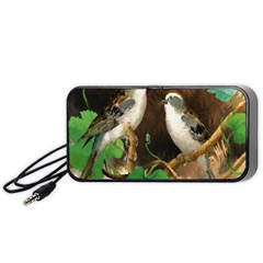 Backdrop Colorful Bird Decoration Portable Speaker (black)