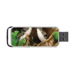Backdrop Colorful Bird Decoration Portable Usb Flash (two Sides)