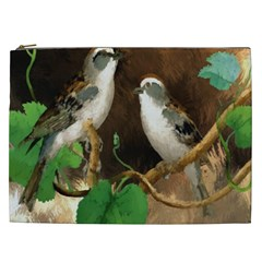 Backdrop Colorful Bird Decoration Cosmetic Bag (xxl)