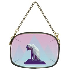 Polar Bears Animals White Chain Purses (one Side)