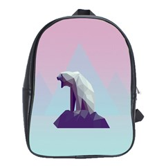 Polar Bears Animals White School Bags(large)  by Alisyart