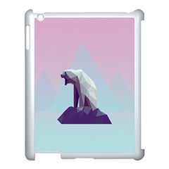 Polar Bears Animals White Apple Ipad 3/4 Case (white)