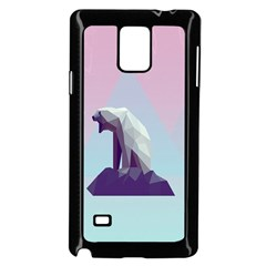 Polar Bears Animals White Samsung Galaxy Note 4 Case (black)