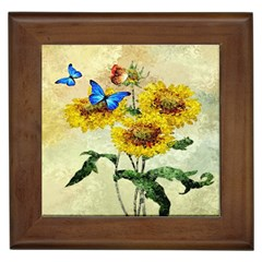 Backdrop Colorful Butterfly Framed Tiles