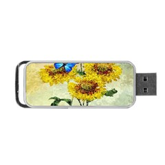 Backdrop Colorful Butterfly Portable Usb Flash (two Sides)