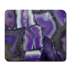 Purple Agate Natural Large Mousepads