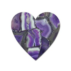 Purple Agate Natural Heart Magnet