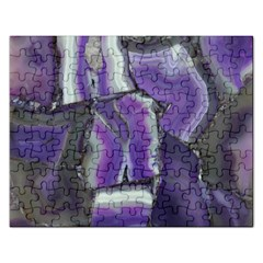 Purple Agate Natural Rectangular Jigsaw Puzzl by Alisyart