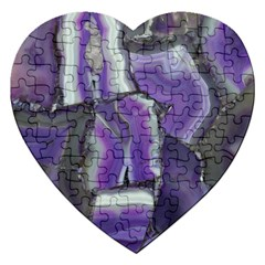 Purple Agate Natural Jigsaw Puzzle (heart)