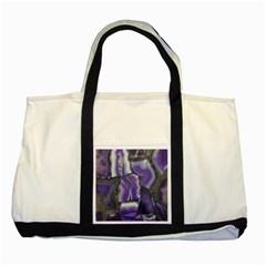 Purple Agate Natural Two Tone Tote Bag