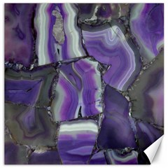 Purple Agate Natural Canvas 16  X 16
