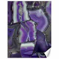 Purple Agate Natural Canvas 18  X 24   by Alisyart