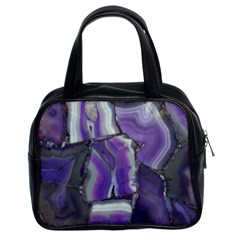 Purple Agate Natural Classic Handbags (2 Sides) by Alisyart