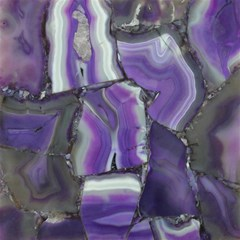 Purple Agate Natural Magic Photo Cubes by Alisyart