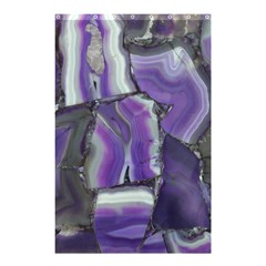 Purple Agate Natural Shower Curtain 48  X 72  (small)