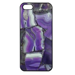 Purple Agate Natural Apple Iphone 5 Seamless Case (black)