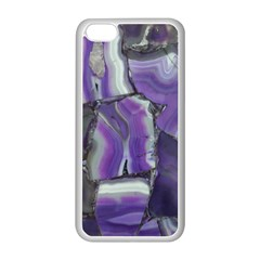 Purple Agate Natural Apple Iphone 5c Seamless Case (white) by Alisyart