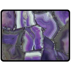 Purple Agate Natural Double Sided Fleece Blanket (large)