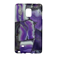 Purple Agate Natural Galaxy Note Edge by Alisyart