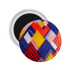 Background Fabric Multicolored Patterns 2 25  Magnets by Nexatart