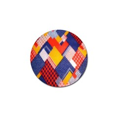 Background Fabric Multicolored Patterns Golf Ball Marker (4 Pack) by Nexatart