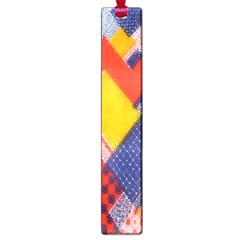 Background Fabric Multicolored Patterns Large Book Marks by Nexatart