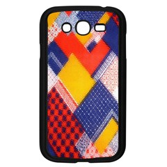 Background Fabric Multicolored Patterns Samsung Galaxy Grand Duos I9082 Case (black) by Nexatart