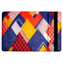 Background Fabric Multicolored Patterns Ipad Air Flip by Nexatart