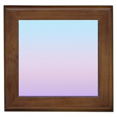 Simple Circle Dot Purple Blue Framed Tiles by Alisyart