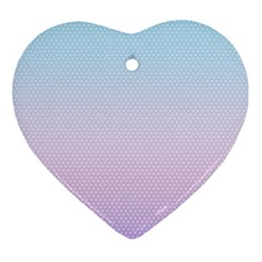 Simple Circle Dot Purple Blue Ornament (heart) by Alisyart