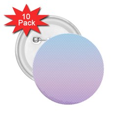 Simple Circle Dot Purple Blue 2 25  Buttons (10 Pack)
