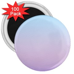 Simple Circle Dot Purple Blue 3  Magnets (100 Pack) by Alisyart