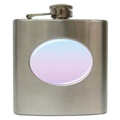 Simple Circle Dot Purple Blue Hip Flask (6 Oz) by Alisyart
