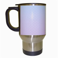 Simple Circle Dot Purple Blue Travel Mugs (white)