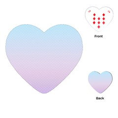 Simple Circle Dot Purple Blue Playing Cards (heart)
