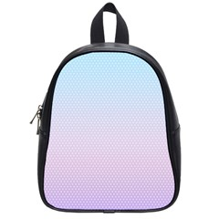 Simple Circle Dot Purple Blue School Bags (small)  by Alisyart