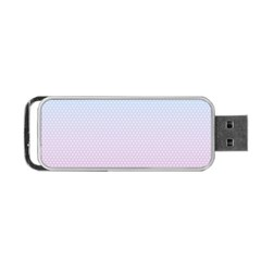 Simple Circle Dot Purple Blue Portable Usb Flash (two Sides)