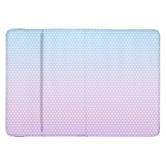 Simple Circle Dot Purple Blue Samsung Galaxy Tab 8 9  P7300 Flip Case