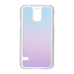Simple Circle Dot Purple Blue Samsung Galaxy S5 Case (white)