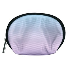 Simple Circle Dot Purple Blue Accessory Pouches (medium)