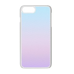 Simple Circle Dot Purple Blue Apple Iphone 7 Plus White Seamless Case