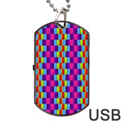 Background For Scrapbooking Or Other Patterned Wood Dog Tag Usb Flash (two Sides)