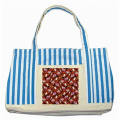 Background For Scrapbooking Or Other Shellfish Grounds Striped Blue Tote Bag