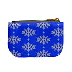Background For Scrapbooking Or Other Snowflakes Patterns Mini Coin Purses Back