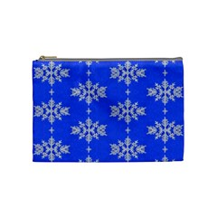 Background For Scrapbooking Or Other Snowflakes Patterns Cosmetic Bag (medium)
