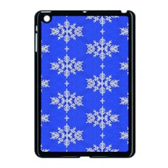 Background For Scrapbooking Or Other Snowflakes Patterns Apple Ipad Mini Case (black) by Nexatart