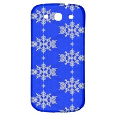 Background For Scrapbooking Or Other Snowflakes Patterns Samsung Galaxy S3 S Iii Classic Hardshell Back Case by Nexatart