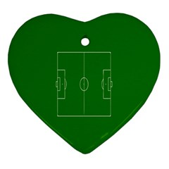 Soccer Field Football Sport Green Ornament (heart) by Alisyart